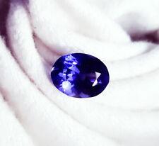 Loose Gemstone Natural Tanzanite 11.02 Ct Certified Oval Shape