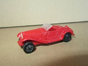 908P Toy Plastic Ho Roadster Open Year 30 Red 1:87 L 5.9 CM