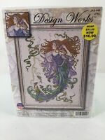 """Design Works Counted Cross Stitch Kit """"Sea Godess"""" 14 X 18  #JAS-049 2762 New"""