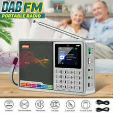 "GTMEDIA D2 Portable Digital 2.4""TFT FM DAB+Radio BT Speaker MP3 Player TF Record"