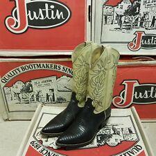 JUSTIN 1988 Vintage women's boots Iguana Lizard Winter Kiddie UK 5 EUR 37 US 7
