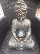 Buddha Brunnen 50 Cm Mit Beleuchteter Kugel   Innen  U. Außenbereich   NEU