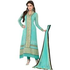 Hypnotex - Blue Georgette semi stitch salwar kameez dress divya2509