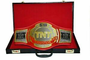 ST AEW TNT Wrestling Champion Title Belt Replica Adult 4mm Brass Plates Leather