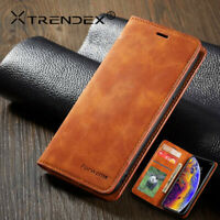 For iPhone 11 Pro XS MAX Genuine TRENDEX Vintage Leather Wallet Flip Case Cover