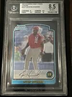 🔥9.5, 10 SUBS🔥 2003 Bowman DRAFT PICKS Chrome RYAN HOWARD ROOKIE, NRMT BGS 8.5
