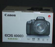 Canon EOS 4000D 18MP Digitalkamera - Schwarz (Kit mit EF-S 18-55mm DC III Objektiv)