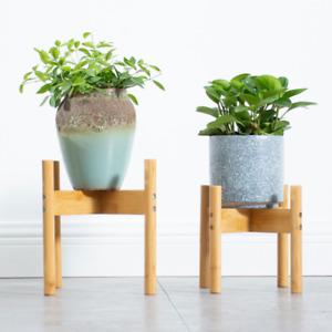 1x Bamboo Planter Stand Flower Pot Rack Holder Bonsai Plant Shelf Display