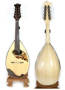 Solid Spruce top Solid Maple Bowl Back Mandolin include Case CMLN