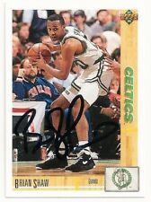 BRIAN SHAW - SIGNED/AUTO/AUTOGRAPH ON A BASKETBALL CARD - BOSTON CELTICS