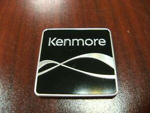 LG Kenmore Black Nameplate Genuine OEM part, 1.25 inch square, brand new
