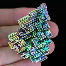 One(1) Lg Superior Rainbow Bismuth Crystal Mineral Specimen Education Reiki