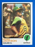1973 Topps Baseball Card #255 - Reggie Jackson - Oakland A's