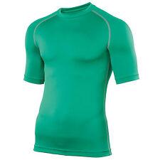 Mens Rhino Thermal Warm Lightweight Colour Baselayer Turtleneck Short Sleeve Top