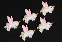 5pcs Pegasus Unicorn Figurine For Cake Decoration Topper Figure Toy Decorate