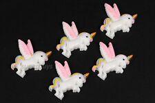 5pcs Pegasus Unicorn Figurine For Cake Decoration Topper Figure Toy Decorate