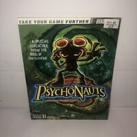 EX COND PSYCHONAUTS Strategy Guide Hint Book Secrets BradyGames VHTF Rare Guide