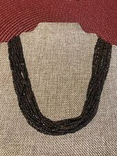 Bead Sterling Silver Necklace 18� Silpada Multi Strand Chunky Brown