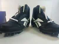 Reebok 400 BSB High JR Baseball Cleats Black / White Size 5 NEW in BOX