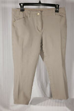 CHICO'S SO SLIMMING Size 0 Petite Taupe Women's Capri Crop Pants