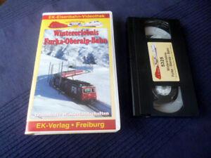 VHS EK Eisenbahn Winter mit Furka-Oberalp-Bahn FO Wallis Uris Graubünden SCHNEE