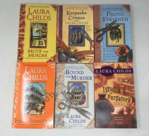 6 x Cozy Mysteries by Laura Childs Mainly Scrapbooking Mysteries  Job Lot PB