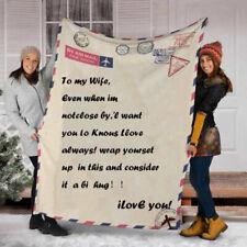Letter Postcard to daughter/son 3D Custom Fleece Blanket Gift from love dad/mom