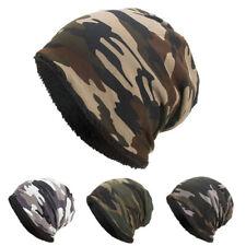 Sports Cap Chapeau Plush Velvet Hat Camouflage Winter Stylish Outdoor Thick