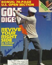 Gardner Dickinson Autographed Golf Digest Magazine July 1986 Full Rare A951