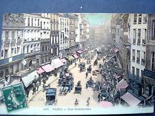 75 ,paris ,la rue montmartre en 1907