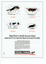Publicité Advertising 088  1990  Royal Canin aliment chien  cynotechnique