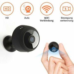 Wlan Mini Überwachungskamera HD 1080P WIFI IP Kamera Innen/Außen Haus Spion NEU