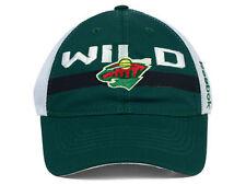 Minnesota Wild Reebok Eu93Z Nhl Slouch Flex Team Logo Hockey Cap Hat
