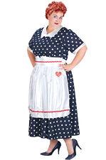 Brand New Plus Size I Love Lucy Polka Dot Dress Halloween Costume