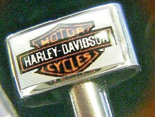 "2- Hardley Davidson ""HOG""  Motorcycle Cribbage Board Pegs, Velvet Pouch, USA a"