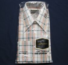 Vintage New Old Stock TownCraft 100% Polyester Ls Button Shirt size M