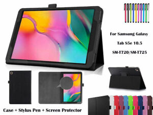 Folding Flip Leather Cover Case For Samsung Galaxy Tab S5e 10.5, T720/T725