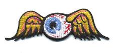 Hot Rod Patch Flying Eyeball Badge Von Dutch Drag Race Motorcycle Iron on