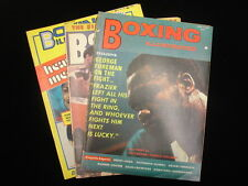 Lot of 3 Boxing Illustrated Magazines – 1971, 74, 76