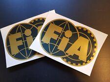 2 x FIA Stickers Race & Rally Car Stickers.