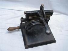 Antique Perin & Gaff Crank Fluting Iron Cast Susan Knox 1866 Pat Tool