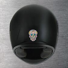 Sugar Skull 1 Helmet sticker quality 7 yr water/fade proof vinyl motorbike