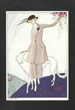 Vintage ART DECO Fashion Print..1920 La Guirlande.. 'Emmanuel Blanche'