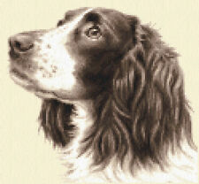 LIVER SPRINGER SPANIEL dog, puppy, Full counted cross stitch kit - all materials