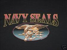 New Black Navy Seals Oval Design T-Shirt, Size MD