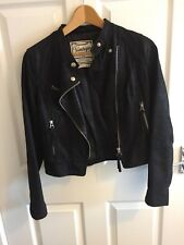 New Look Short Leather Jacket Size 10