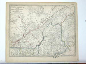 1851 SDUK map of northern New England and part of Canada