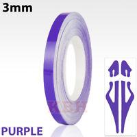 Purple Self Adhesive Car Pin Stripe Coach Line Tape Styling Stripe 3mm x 10meter