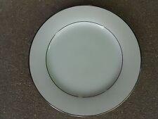 "Noritake  ENVOY 8""   Salad/Sandwich Plate Made in Japan Platinum Trim  6325"