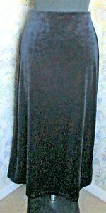 Long dark blue velvet skirt by EAST Size 10-12